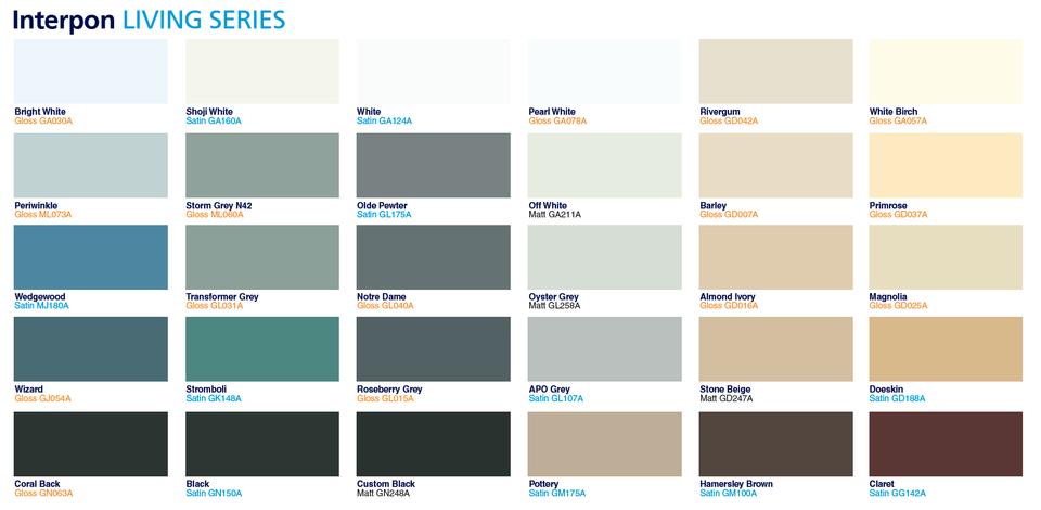 Colour Chart -